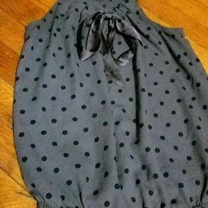 American Eagle Outfitters Polka Dot Tie-Neck Tank